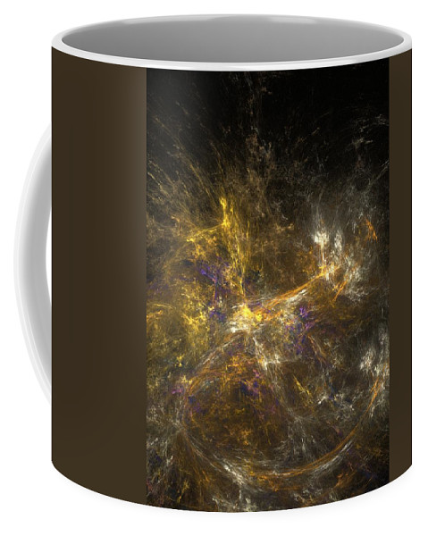 Abstract Digital Photo Coffee Mug featuring the digital art The Dance 3 by David Lane