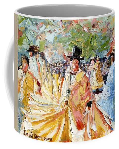 La Paz Coffee Mug featuring the painting The Dance At La Paz by Lewis Bowman