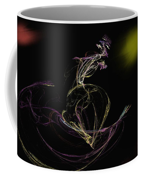 Abstract Digital Photo Coffee Mug featuring the digital art The Dance by David Lane