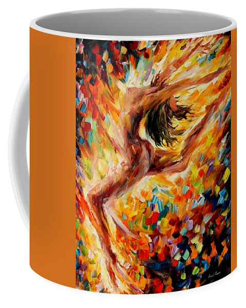 Afremov Coffee Mug featuring the painting The Dance Of Love by Leonid Afremov