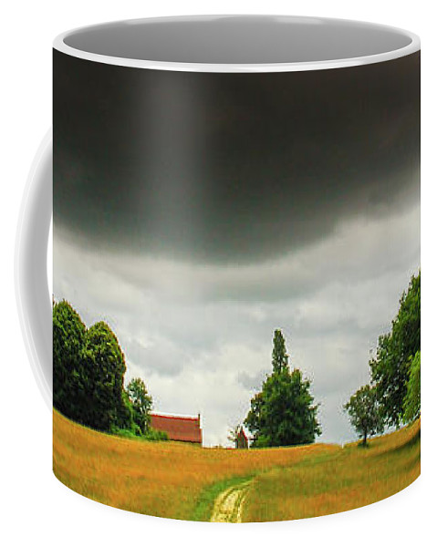 Weather Coffee Mug featuring the photograph The Dark Cloud by Jeff Black