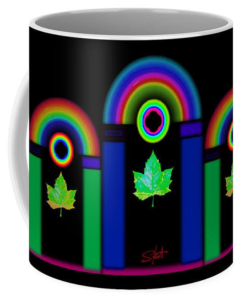 Classical Coffee Mug featuring the painting The Dark Side Of The Tuscan Moon by Charles Stuart