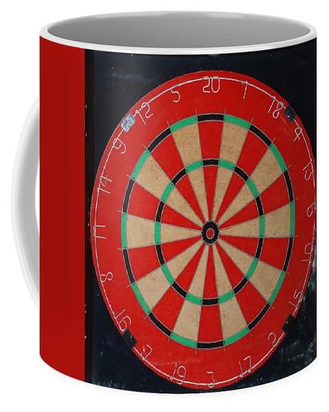 Macro Coffee Mug featuring the photograph The Dart Board by Rob Hans