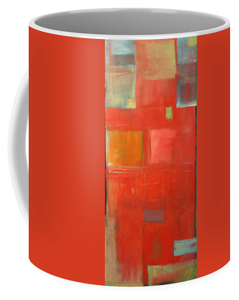 Red Coffee Mug featuring the painting The Day Tim Russert Died by Tim Nyberg