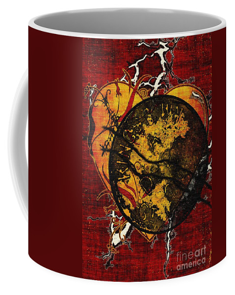 Abandonment Coffee Mug featuring the painting The Day You Left Me by RC DeWinter