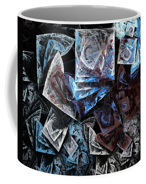 Abstract Coffee Mug featuring the digital art The Days Of My Life by David Lane