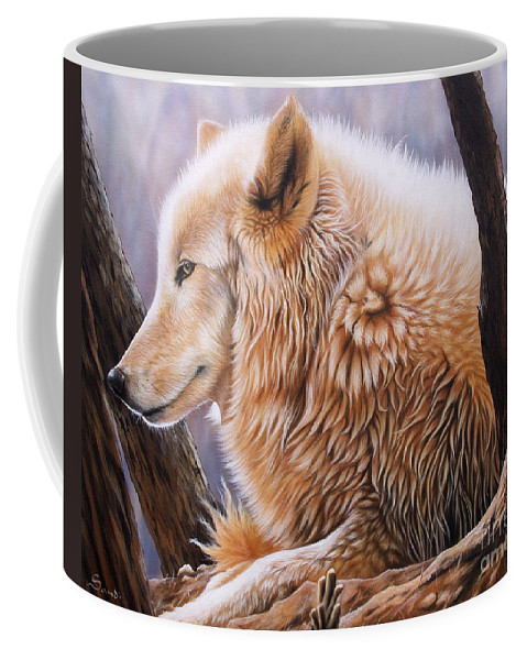 Acrylic Coffee Mug featuring the painting The Daystar by Sandi Baker