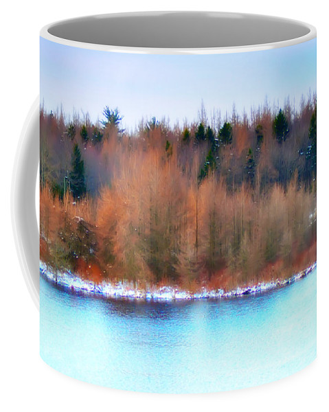 Lake Coffee Mug featuring the photograph The Deep Forbidden Lake by Bill Cannon
