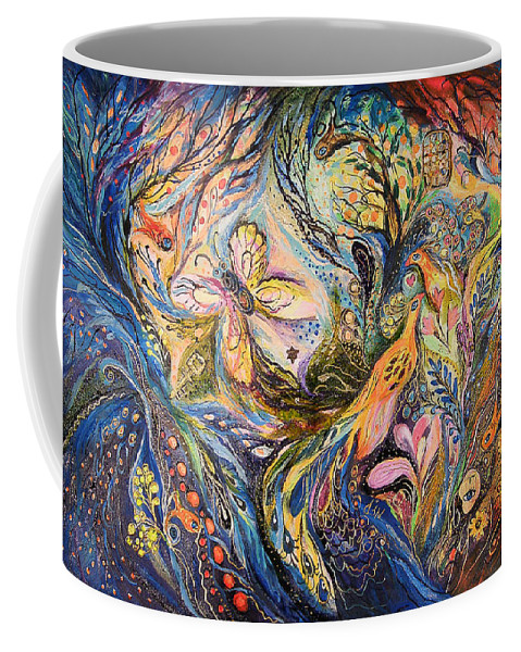 Original Coffee Mug featuring the painting The Deepest Blue by Elena Kotliarker