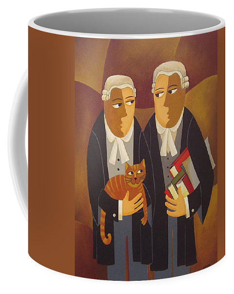 Lawyers Coffee Mug featuring the painting The Defendant by Thomas Andersen