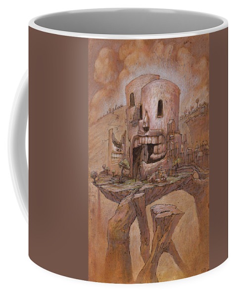 Town Coffee Mug featuring the mixed media The Definite Holdout by Ethan Harris
