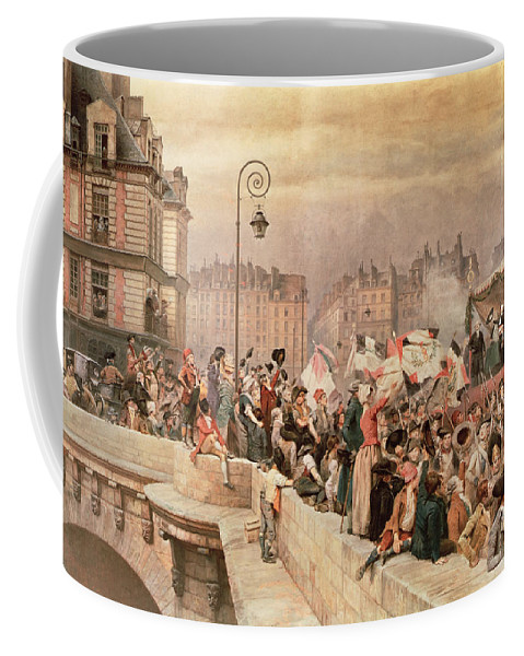 The Coffee Mug featuring the painting The Departure Of The Volunteers 1792 by Jean Baptiste Edouard Detaille