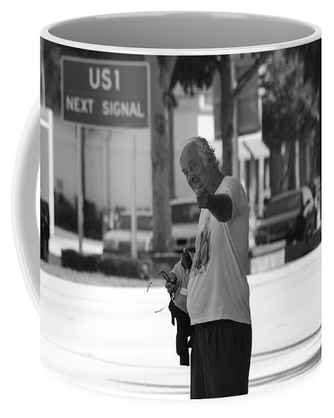 Black And White Coffee Mug featuring the photograph The Devil Man by Rob Hans