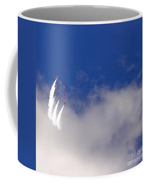 Red Arrows Coffee Mug featuring the photograph The Diamond by Angel Tarantella