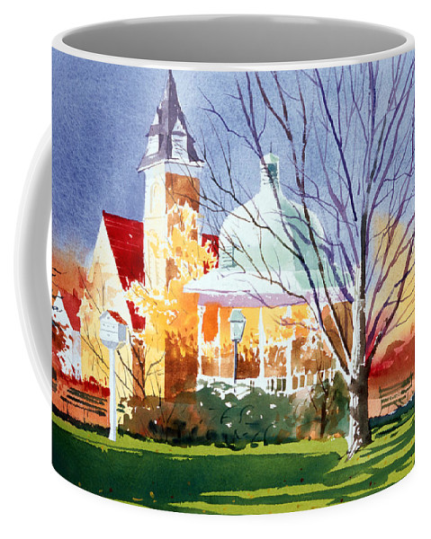 Ligonier Coffee Mug featuring the painting The Diamond In October by Lee Klingenberg