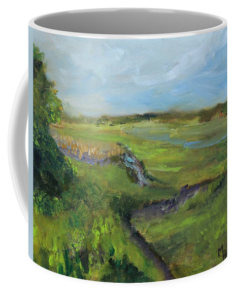 Cape Cod Coffee Mug featuring the painting The Distant View Of The Marsh by Michael Helfen