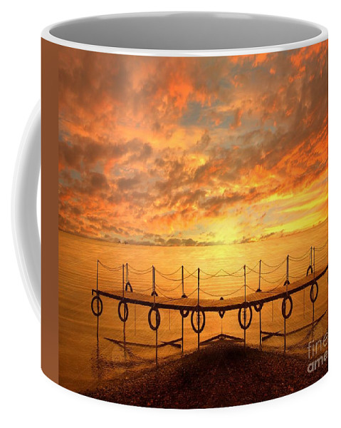 Waterscape Coffee Mug featuring the photograph The Dock by Jacky Gerritsen