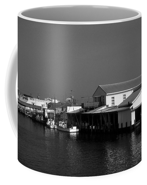Scenic Tours Coffee Mug featuring the photograph The Docks At Crisfield Md by Skip Willits