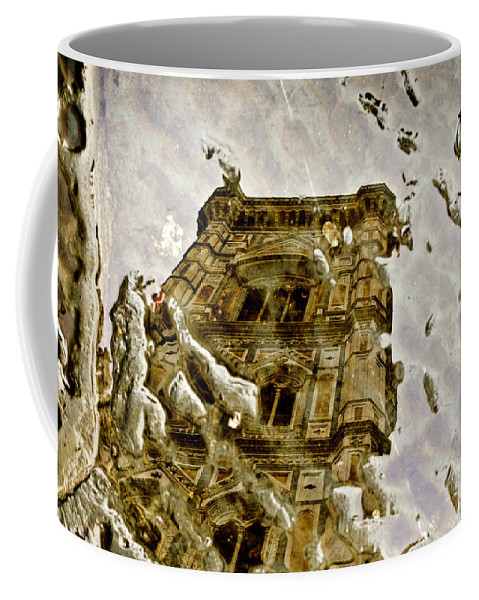 Florence Coffee Mug featuring the photograph The Dome In The Puddle by Wolfgang Stocker