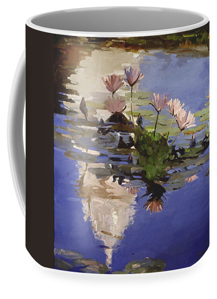 Water Lilies Coffee Mug featuring the painting The Dome - Water Lilies by Betty Jean Billups