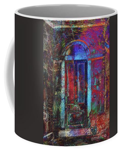 Pastel Art Coffee Mug featuring the digital art The Door by Callan Art