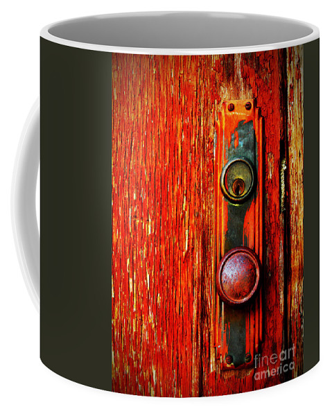 Door Coffee Mug featuring the photograph The Door Handle by Tara Turner