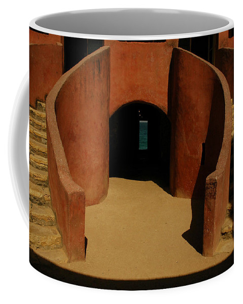 Africa Coffee Mug featuring the photograph The Door Of No Return On Goree Island by Bobby Model