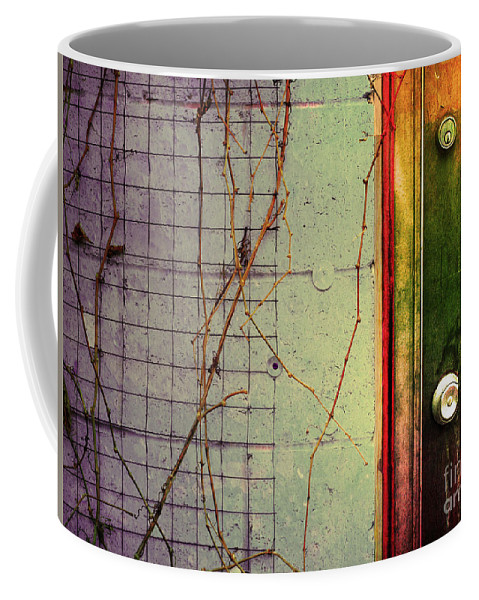 Weeds Coffee Mug featuring the photograph The Door The Wall And The Weeds by Tara Turner