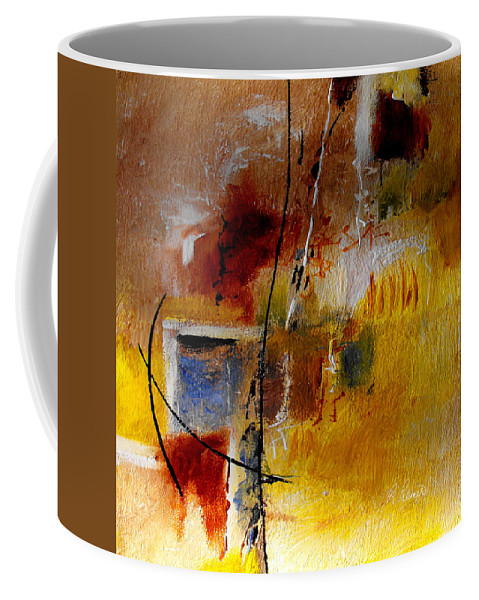 Abstract Coffee Mug featuring the painting The Door Will Be Opened by Ruth Palmer