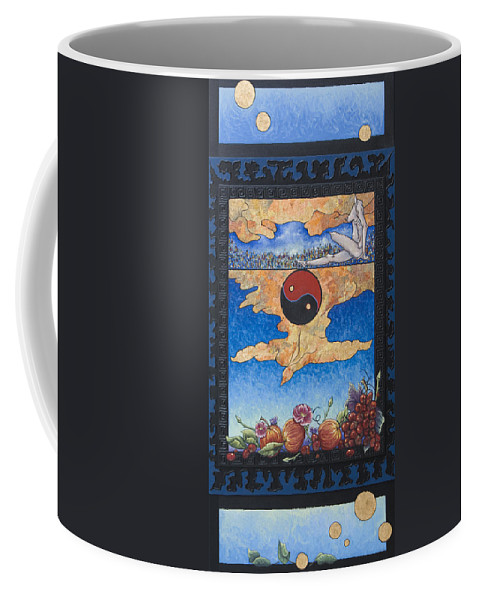 Karma Coffee Mug featuring the painting The Dream by Judy Henninger