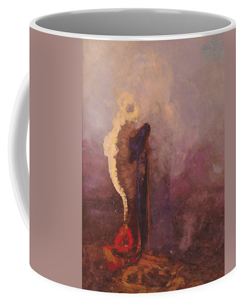 The Coffee Mug featuring the painting The Dream by Odilon Redon