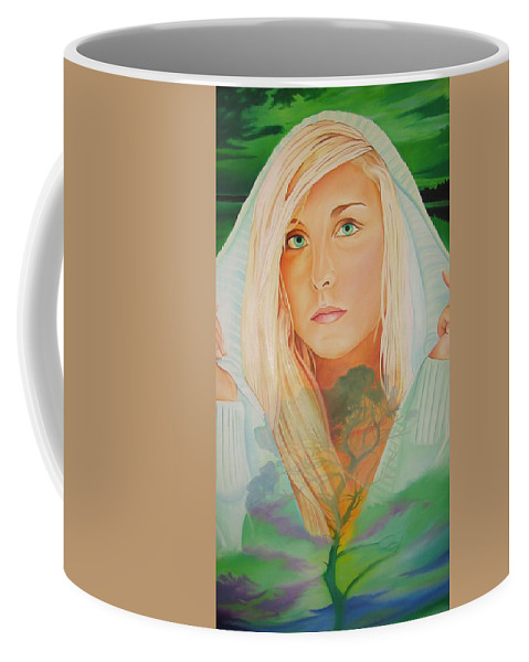 Beautiful Woman Coffee Mug featuring the painting The Dreaming Tree by Joshua Morton