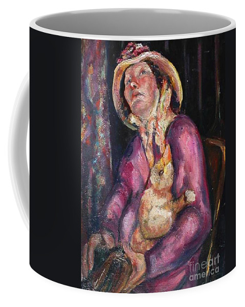 New Orleans Character Coffee Mug featuring the painting The Duck Girl by Beverly Boulet