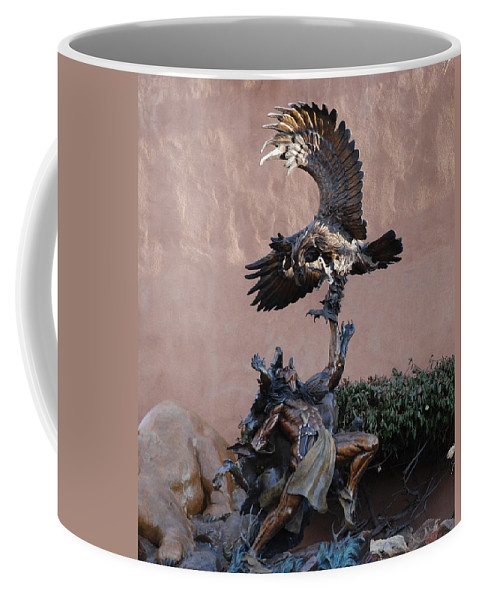 Eagle Coffee Mug featuring the photograph The Eagle And The Indian by Rob Hans