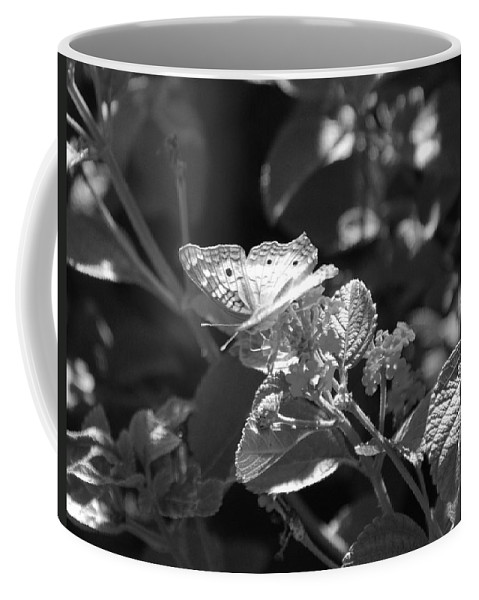 Black And White Coffee Mug featuring the photograph The Eagle Has Landed by Rob Hans