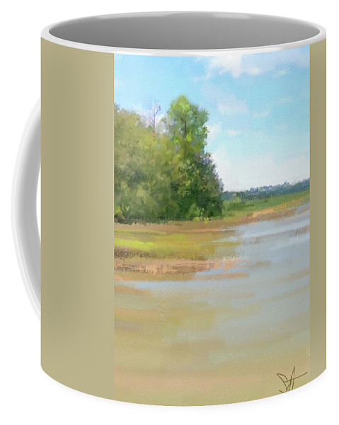 Ipad Coffee Mug featuring the digital art The Eagle Tree by Scott Waters