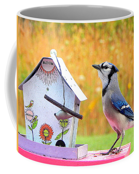 The Early Bird Special Coffee Mug featuring the photograph The Early Bird Special by Karen Cook