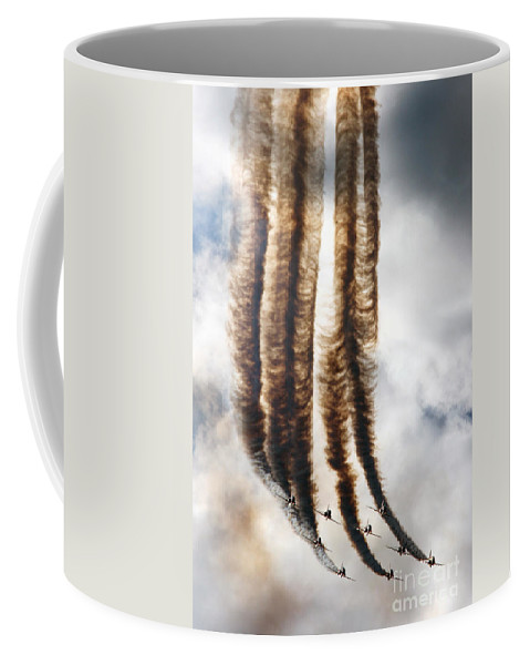 Red Arrows Coffee Mug featuring the photograph The Eight-headed Snake by Angel Tarantella