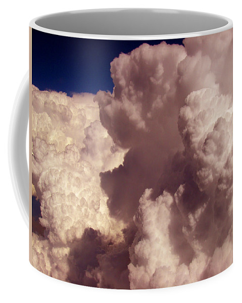 Sky Animals Coffee Mug featuring the photograph The Elf And Schnauzer At 33k by Strato ThreeSIXTYFive