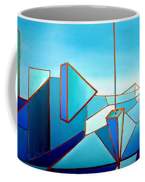Australian Coffee Mug featuring the painting The Emperors Vision 1.0 by Giro Tavitian