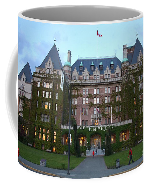 The Empress Hotel Coffee Mug featuring the photograph The Empress Hotel by Carol Groenen