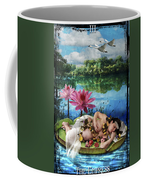 Divine Coffee Mug featuring the digital art The Empress by Tammy Wetzel