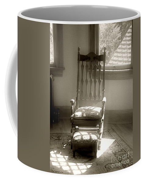 Antique Coffee Mug featuring the photograph The Empty Chair by RC deWinter