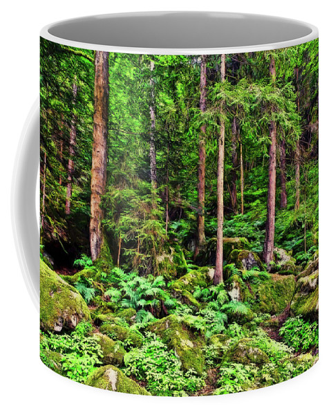 Landscape Coffee Mug featuring the photograph The Enchanted Forest by Marcia Colelli