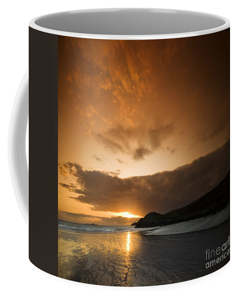 Sunset Coffee Mug featuring the photograph The End Of A Day by Angel Tarantella