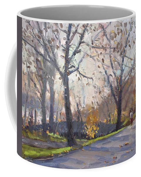 Three Sisters Islands Coffee Mug featuring the painting The End Of Fall At Three Sisters Islands by Ylli Haruni