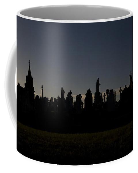 Cementary Coffee Mug featuring the photograph The End Of Life by Angel Ciesniarska