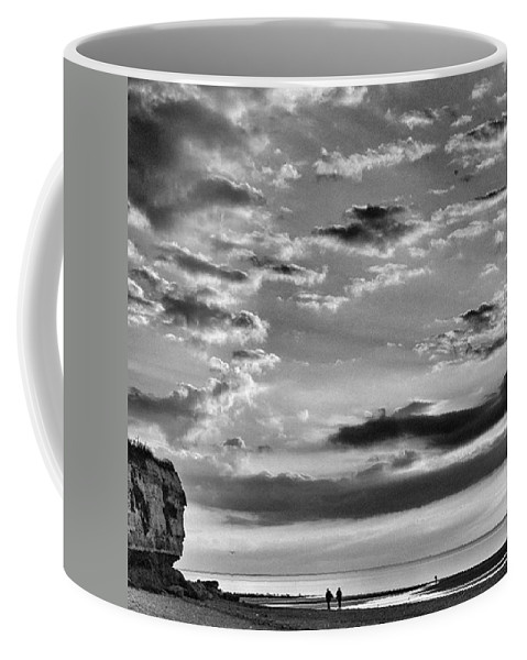 Natureonly Coffee Mug featuring the photograph The End Of The Day, Old Hunstanton by John Edwards