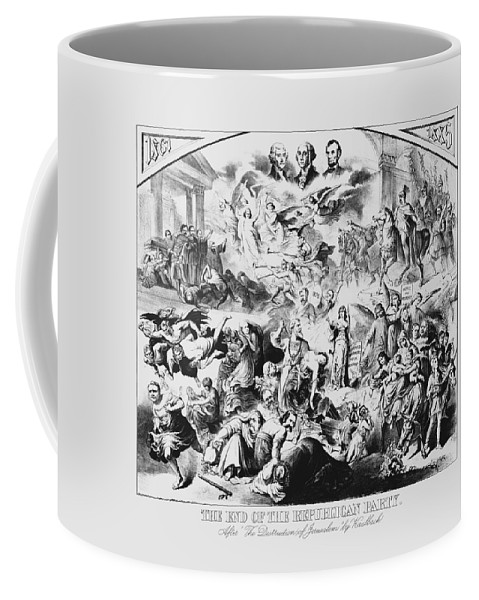 George Washington Coffee Mug featuring the mixed media The End Of The Republican Party by War Is Hell Store