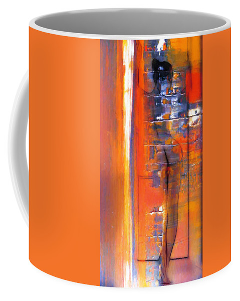 Dark Coffee Mug featuring the painting The Escape by Steve K